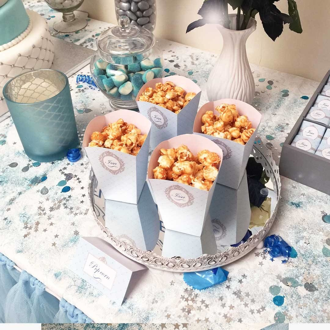 pots à pop corn bleu