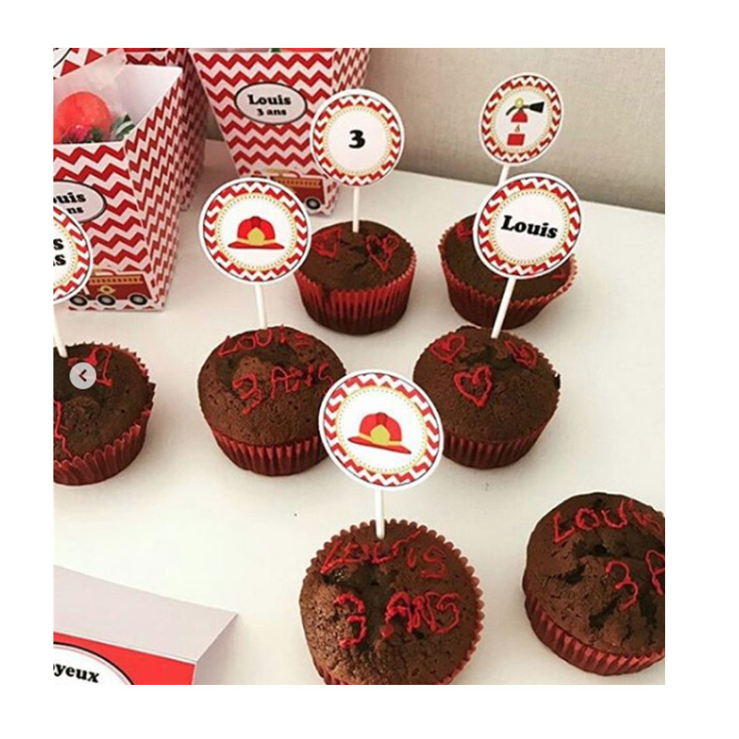 muffins chocolat et toppers