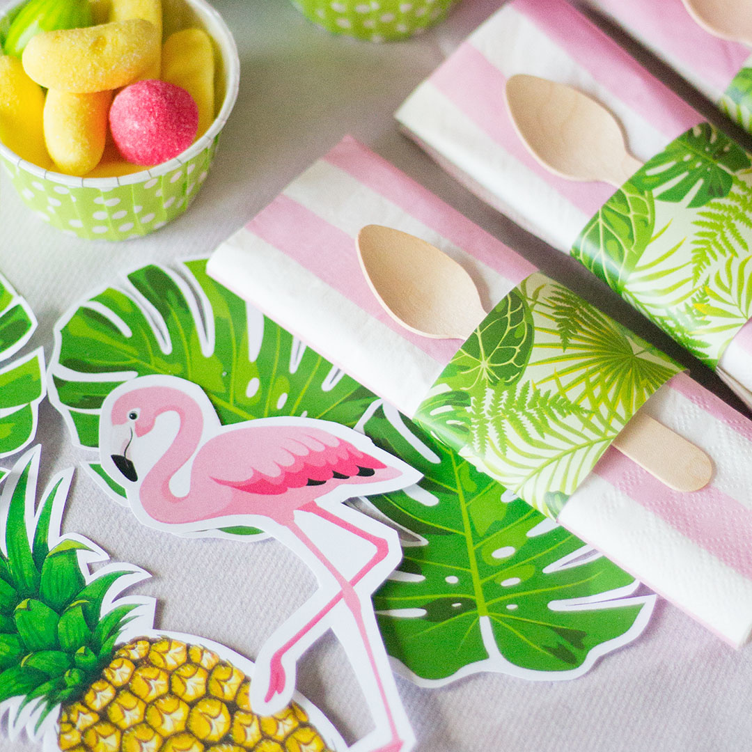 kit papier motif tropical